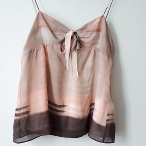 Theory Silk Camisole Tan/Cream/Blush